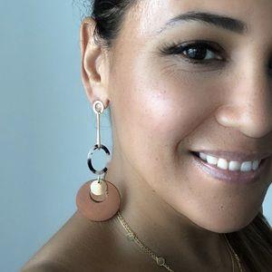 """MischkaPu Jewelry - """"JUNE"""" RESIN WITH WOOD EARRINGS"""